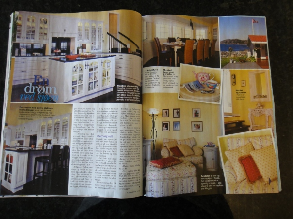 The article mostly talks about the furnishings I've collected while living in America, the Netherlands and Norway.